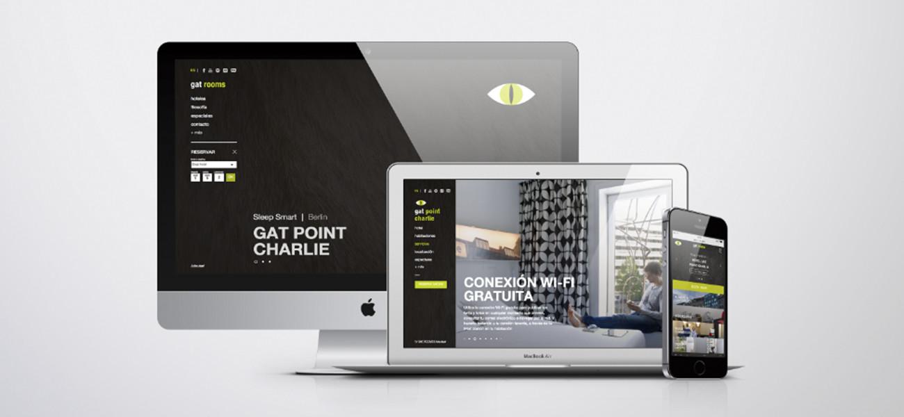 Diseño web Gatrooms hotel
